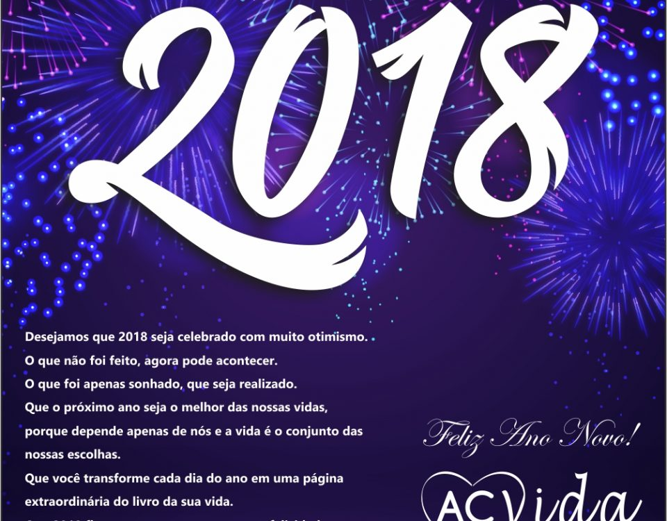 Feliz 2018 – são os votos da Acvida Cuidadores!!