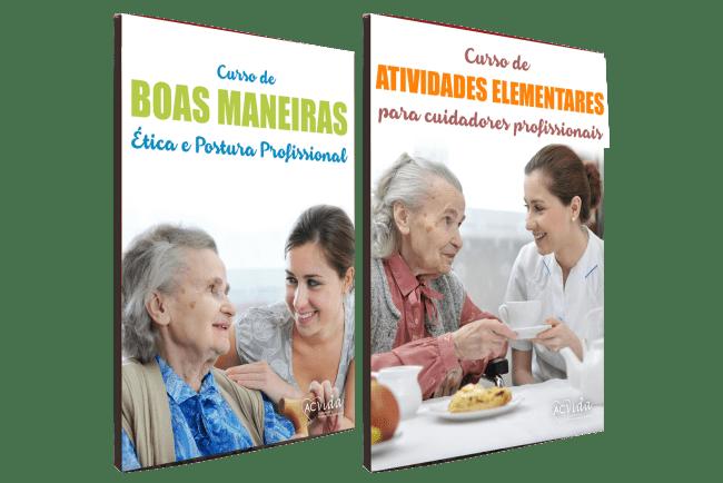 livros do curso de cuidador de idosos