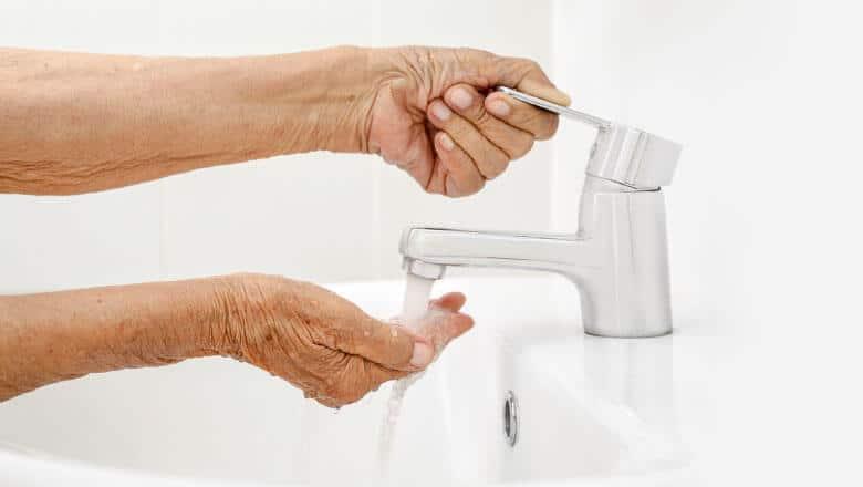 lavar as mãos